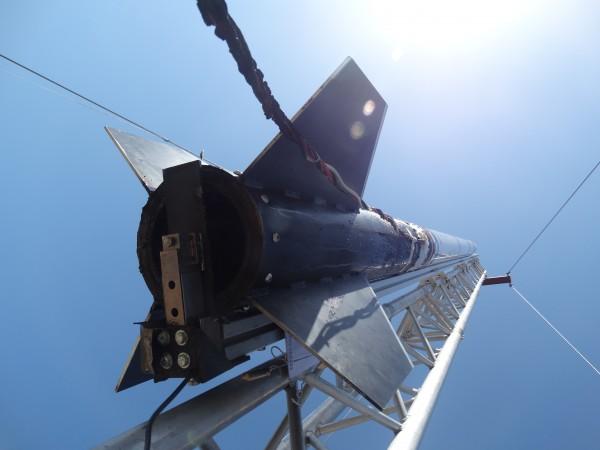 Condensation on the rocket after engine misfire