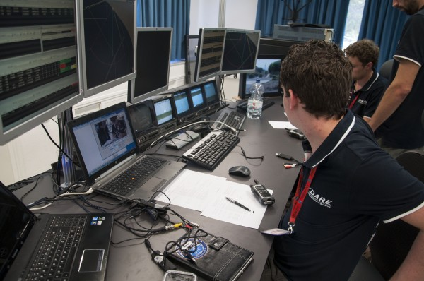 View at the Mission Control Center