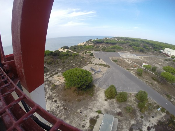 View from the top of the radar tower with a GoPro camera