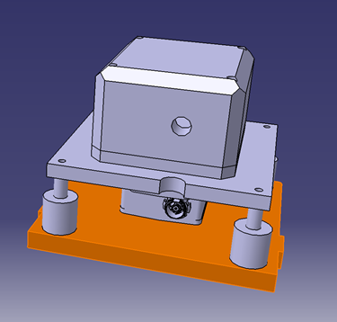 CAD drawing of ACT Stratos Payload Module, with XENS MTi-100 IMU