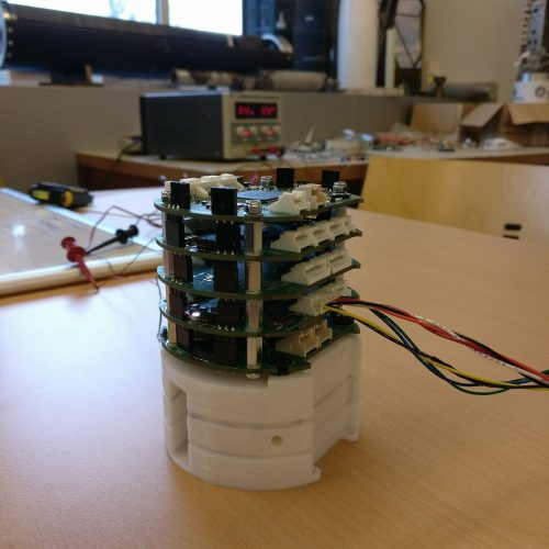 Prototype version of the modular electronic stack