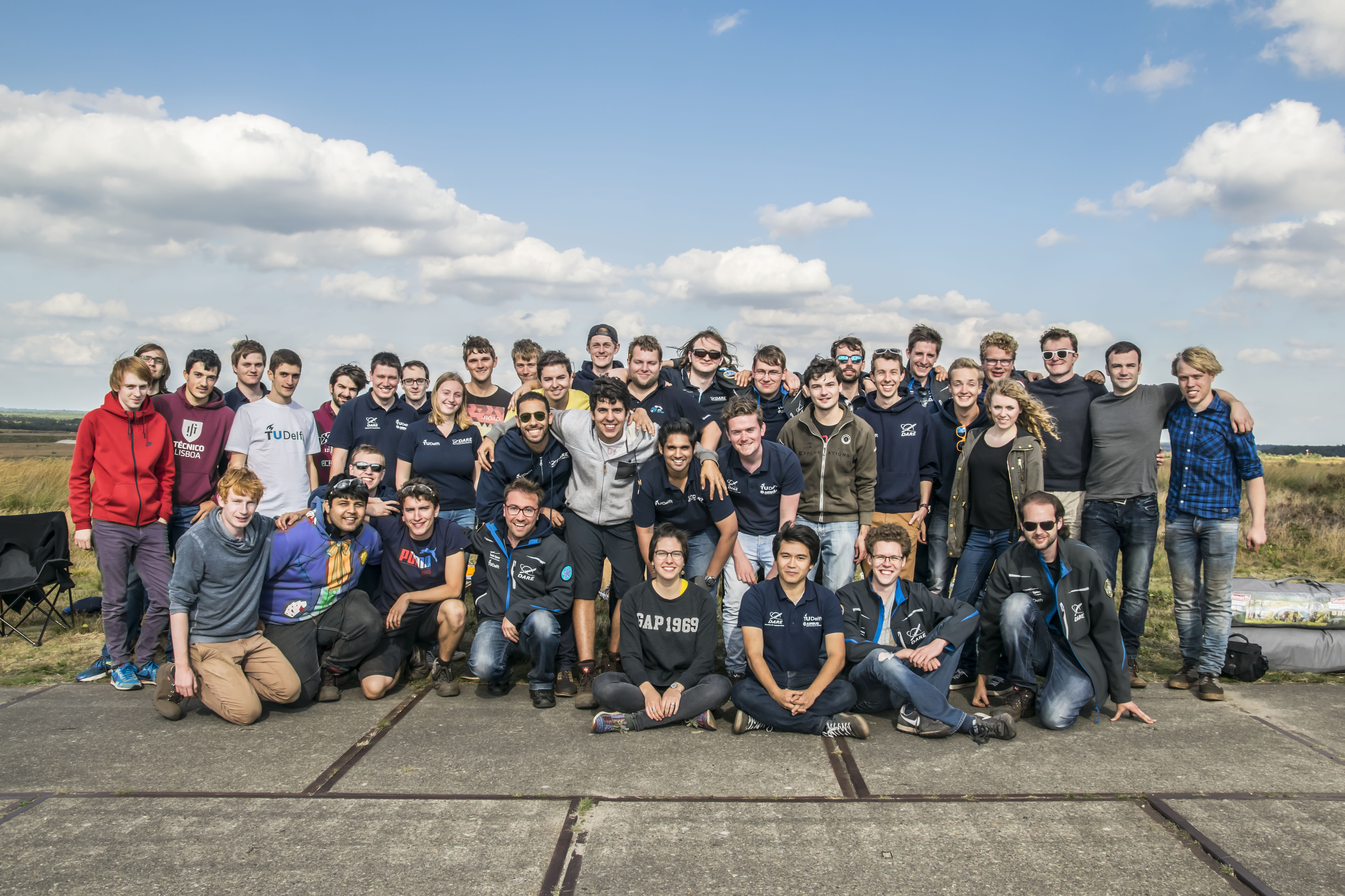 DARE and Aether launch crew at DARE launch day at ASK 't Harde on 23-09-2016